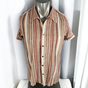 Kenneth Cole Striped Button Down Size M
